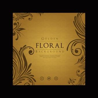 Fondo floral de lujo moderno