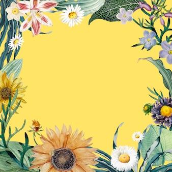 Fondo floral del marco