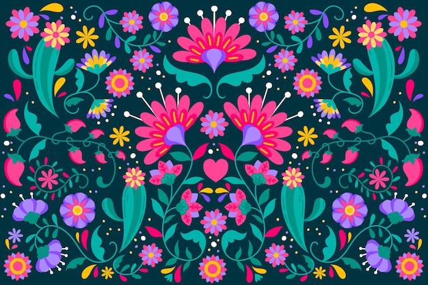 Fondo floral mexicano