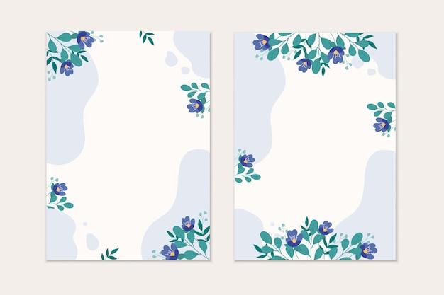 Fondo floral moderno abstracto con espacio para texto