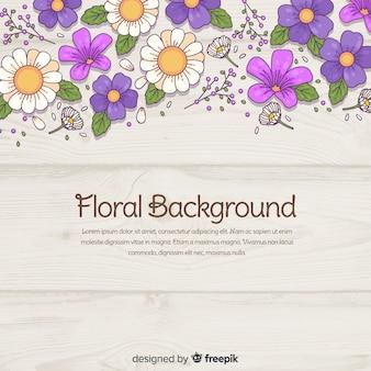 Fondo floral moderno dibujado a mano