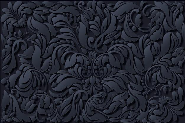 Fondo floral ornamental abstracto
