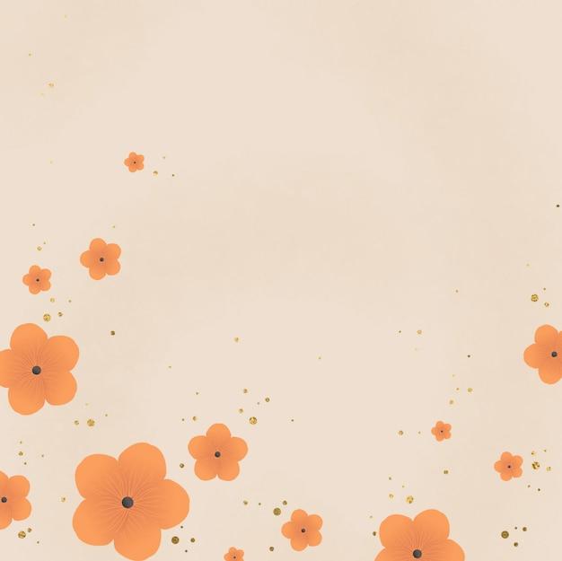 Fondo floral de otoño dibujado a mano