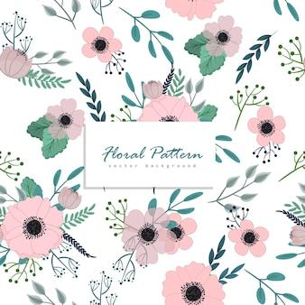 Fondo floral sin patrón
