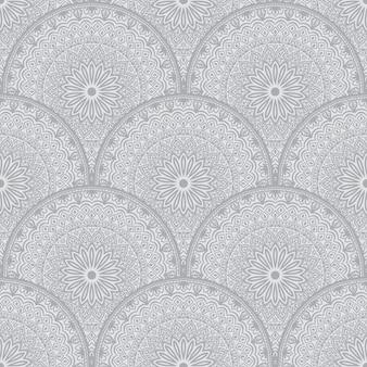 Fondo floral de patrones sin fisuras en estilo árabe.