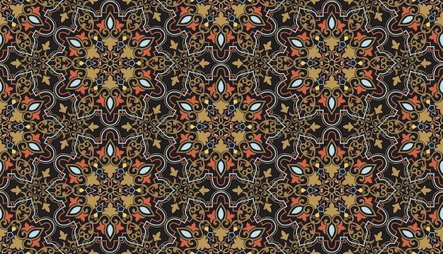 Fondo floral de patrones sin fisuras en estilo árabe