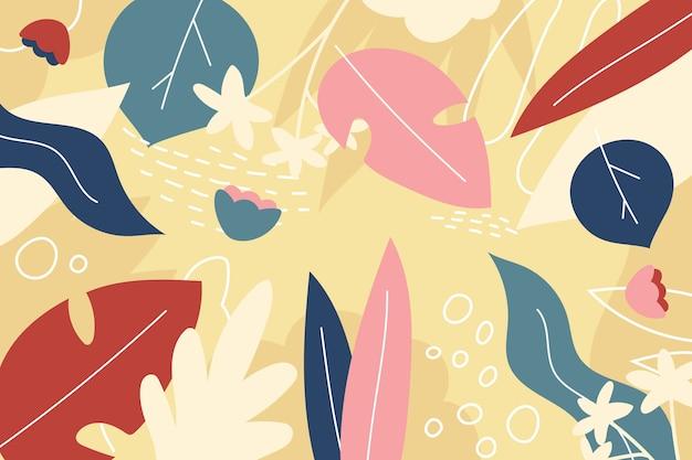 Fondo floral plano abstracto