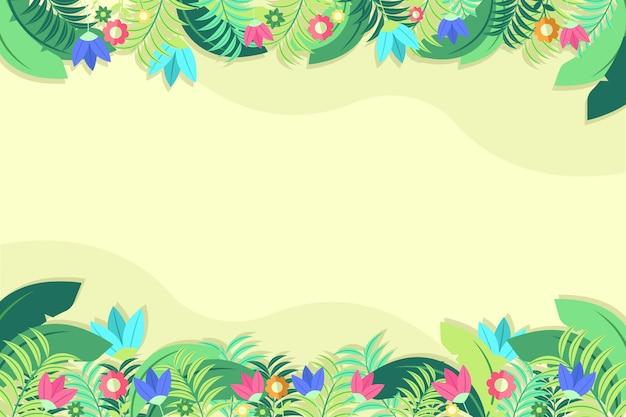 Fondo floral plano