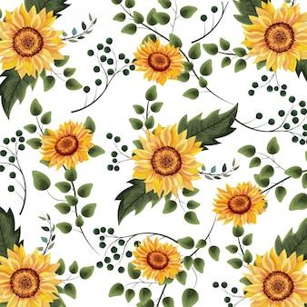 Fondo floral de primavera