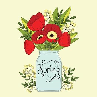 Fondo floral primavera