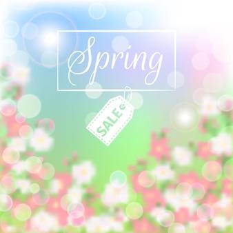 Fondo floral de rebajas de primavera