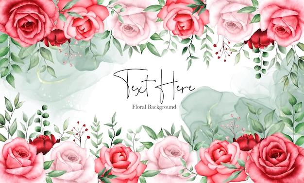 Fondo floral romántico flor granate