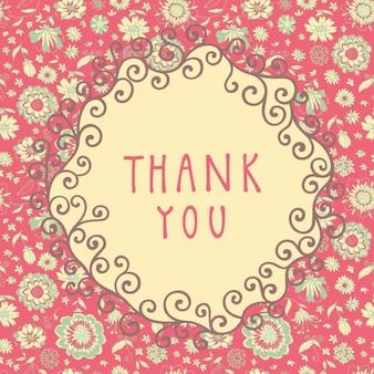 Fondo floral rosa de agradecimiento