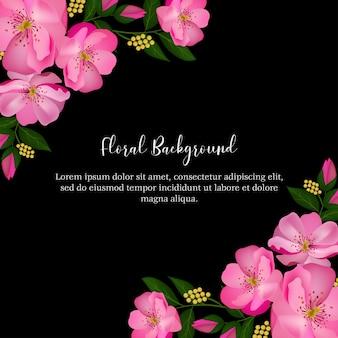 Fondo floral rosa rosa multiuso