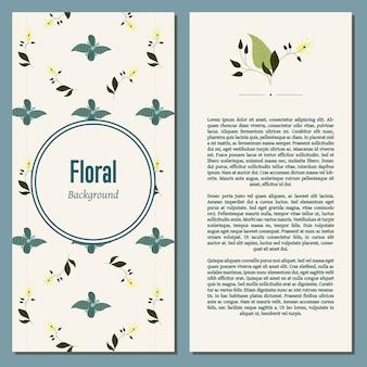 Fondo floral con texto