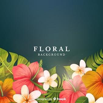 Fondo floral tropical
