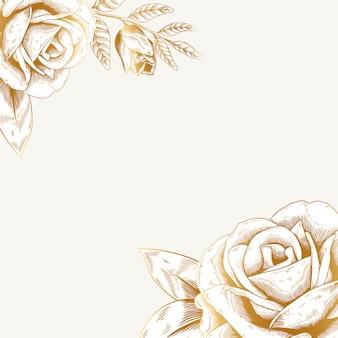 Fondo floral de la vendimia