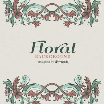 Fondo floral vintage