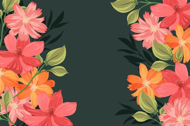Fondo de flores 2d vintage