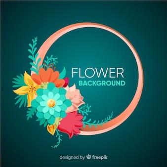 Fondo de flores en 2d