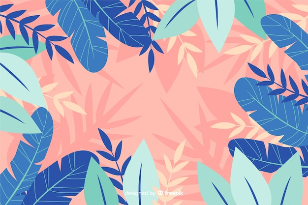Fondo de flores abstracto dibujados a mano