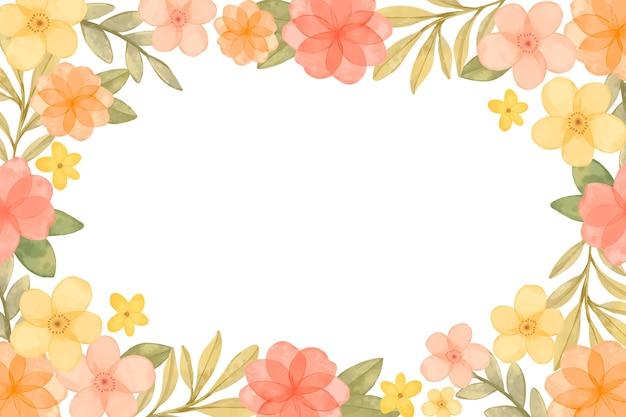 Fondo de flores de acuarela en colores pastel