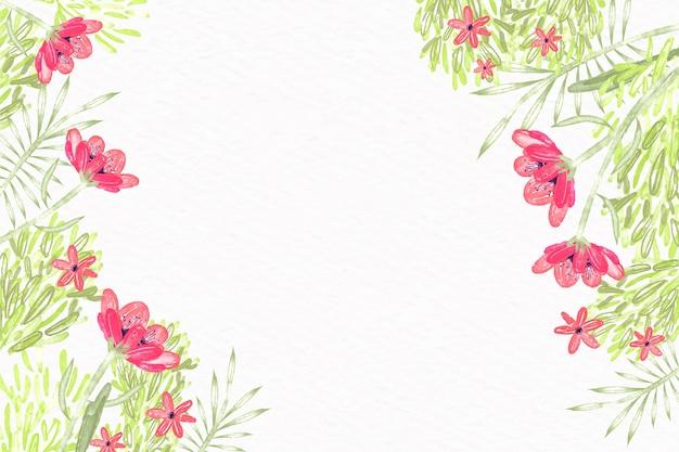 Fondo de flores acuarela en diseño de colores pastel