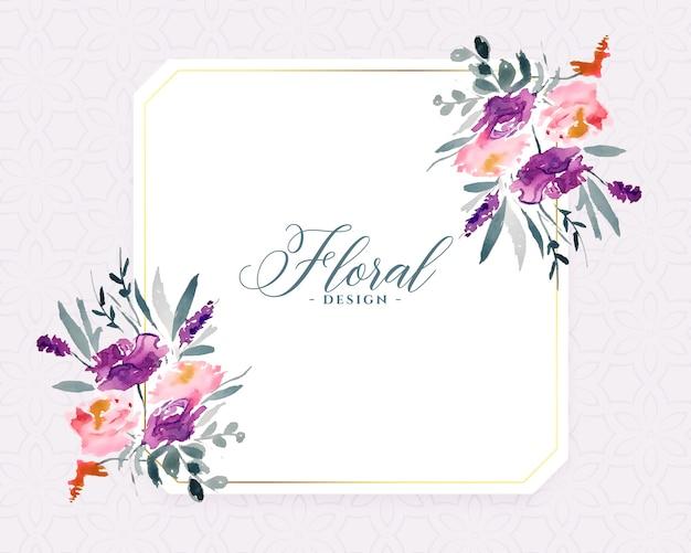Fondo de flores de acuarela con estilo