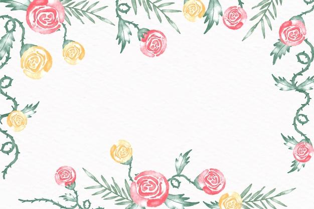 Fondo de flores acuarela en tema de colores pastel