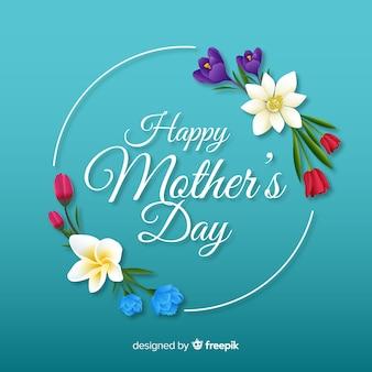 Fondo de flores del día de la madre