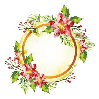 Fondo de flores de invierno para insignia