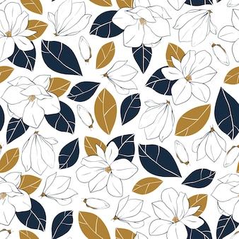 Fondo de flores de magnolia
