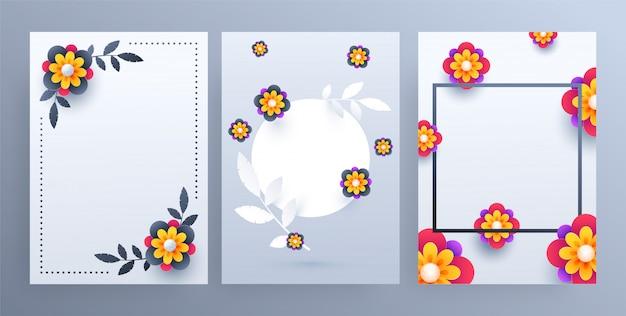 Fondo de flores de papel de colores,