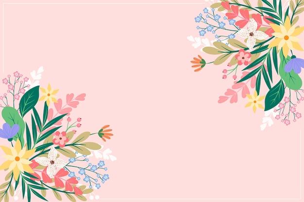 Fondo de flores planas