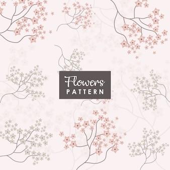 Fondo de flores y rama de sakura
