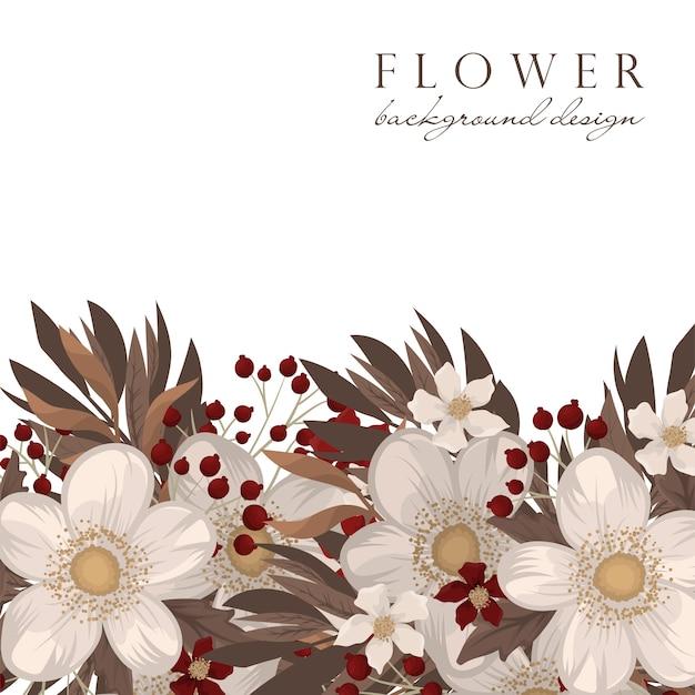 Fondo de flores rojas y blancas