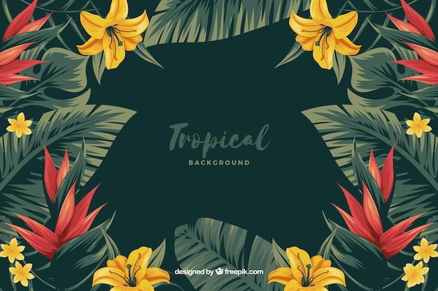 Fondo de flores tropicales