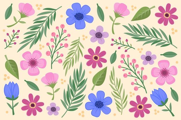Fondo de flores vintage 2d