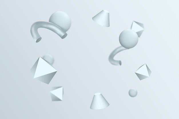 Fondo flotante de formas 3d realistas
