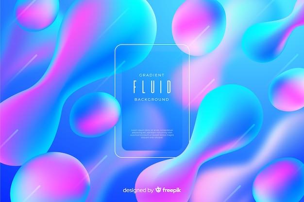 Fondo fluido degradado abstracto