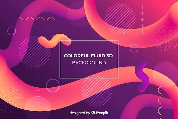Fondo con fluidos coloridos 3d