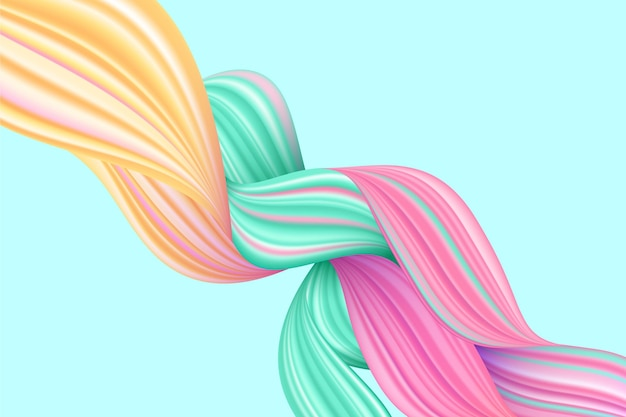 Fondo de flujo de color trenzado