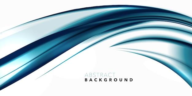 Fondo de flujo de onda geométrica brillante abstracto