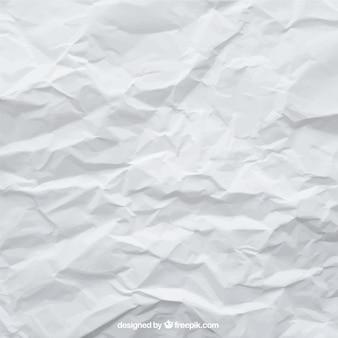 Fondo de folio blanco arrugada
