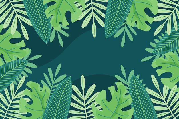 Fondo de follaje tropical