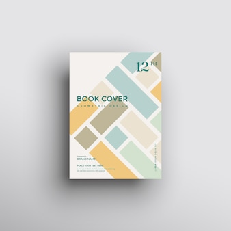 Fondo de folleto con formas geométricas, diseño de portada de libro