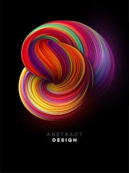 Fondo de forma abstracta de flujo de color