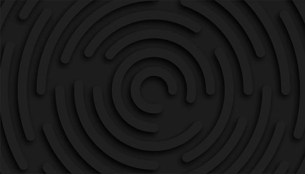 Fondo de forma circular negro abstracto