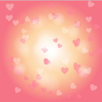 Fondo de forma de corazón en los días de san valentín