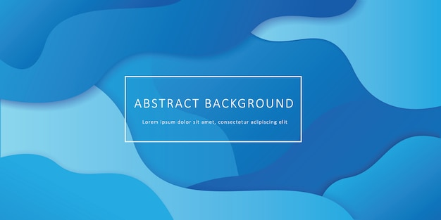 Fondo de forma fluida geométrica abstracta